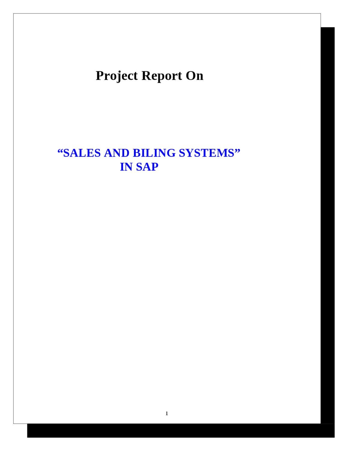 hight resolution of project report on sales and billing systems in sap by sanjay gupta issuu