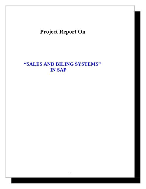 small resolution of project report on sales and billing systems in sap by sanjay gupta issuu