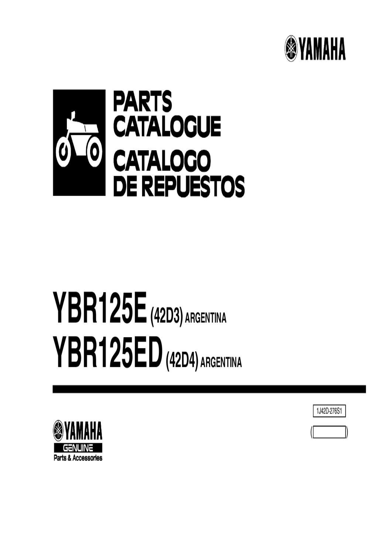 Manual despiece Yamaha YBR 125 ED Llanta aleacion 2010 by