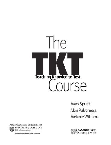The Tkt Course Cambridge Pdf