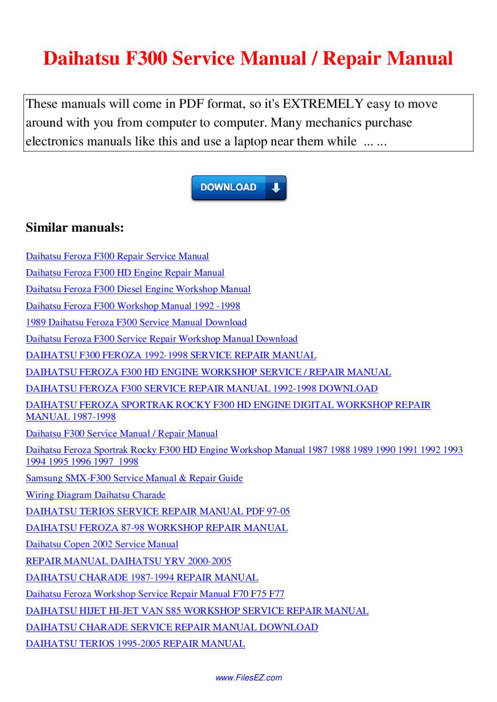 Daihatsu Feroza Wiring Diagram   Online Wiring Diagram on
