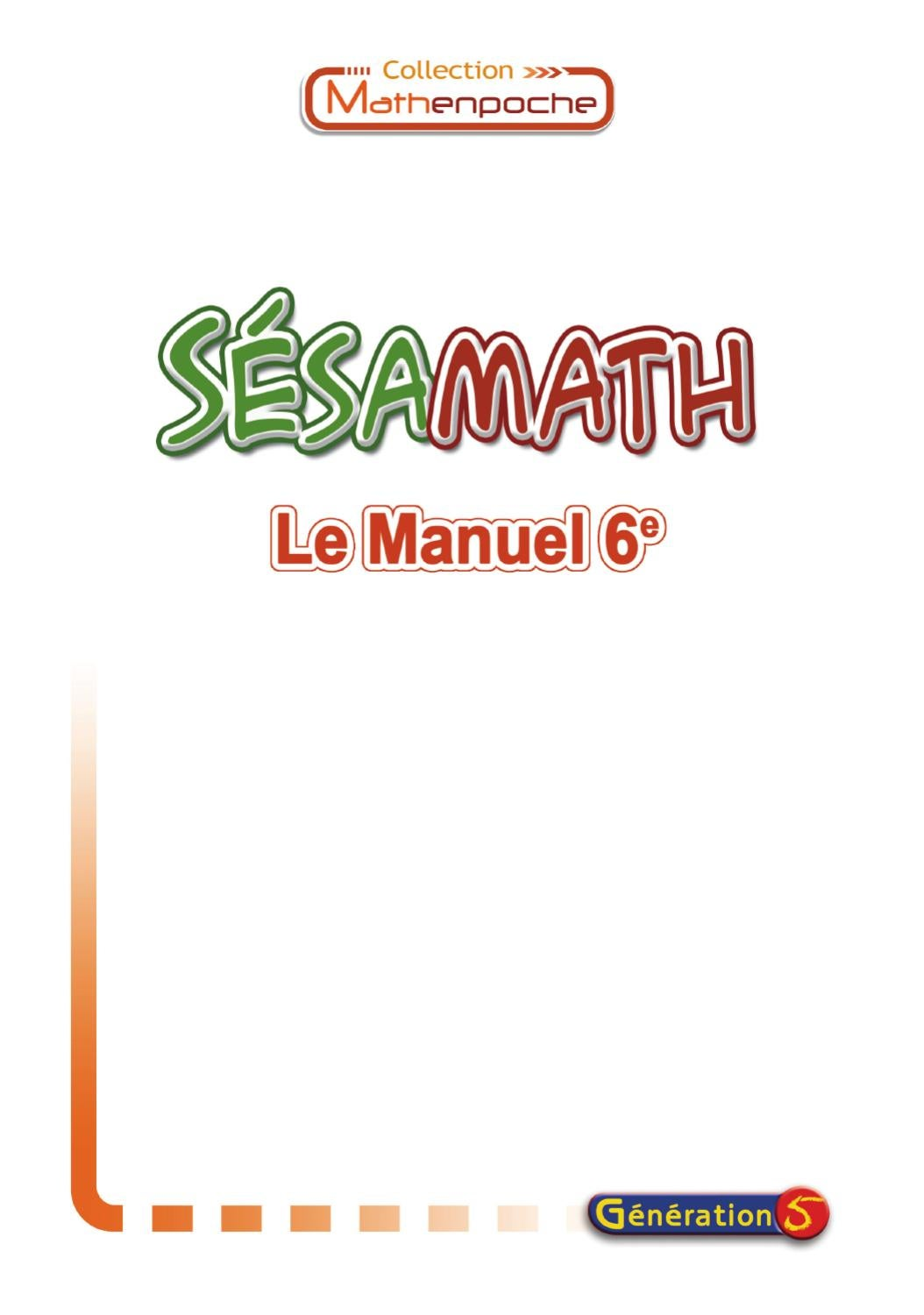 Correction Exercice De Math 4eme Sesamath : correction, exercice, sesamath, Manuel, Sésamath, 6ème, GOUAST, Issuu