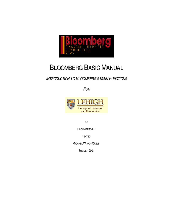 Manual Básico de Bloomberg by Biblioteca UP Universidad