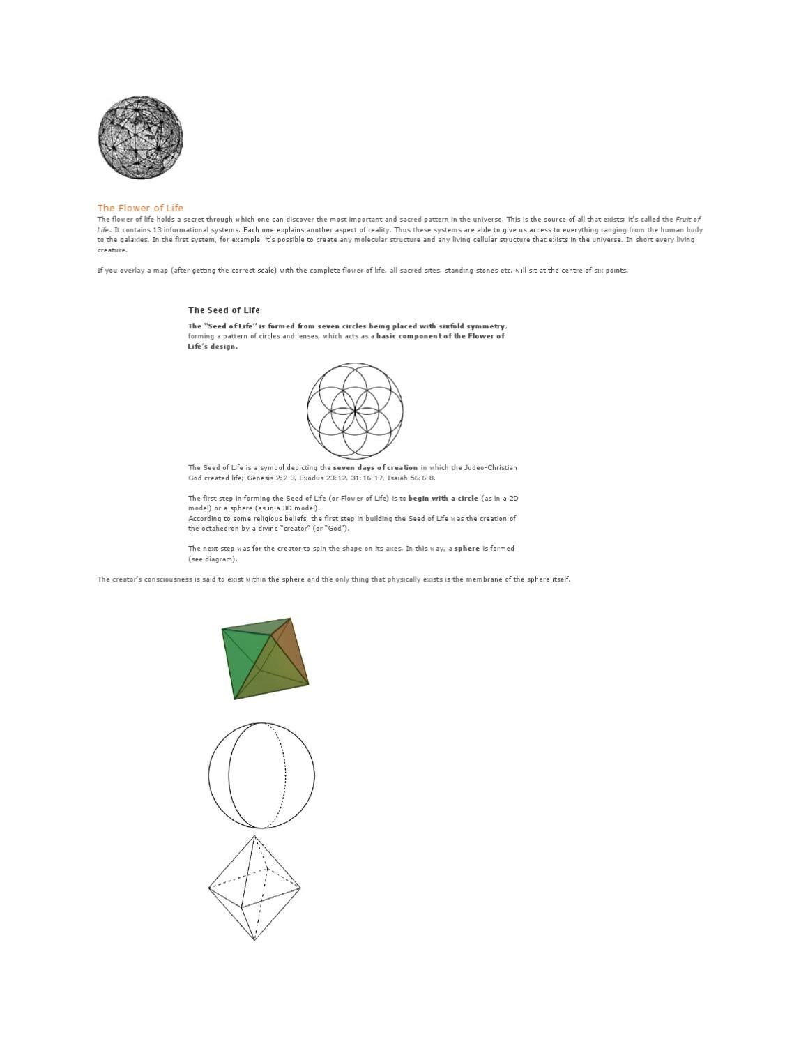 hight resolution of flower of life
