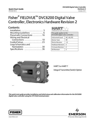 fisher dvc wiring diagram 2002 ford f150 xl radio dvc6200 quick start guide elctrncs hrdwre rev 2 oct 2011 by rmc process controls & filtration ...