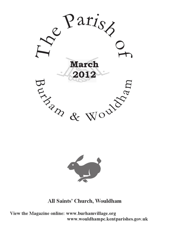Burham Wouldham Parish Magazine March 2012 by Burham