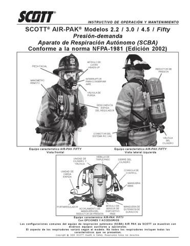 instructivo operacion y mantenimiento SCOTT by Gustavo