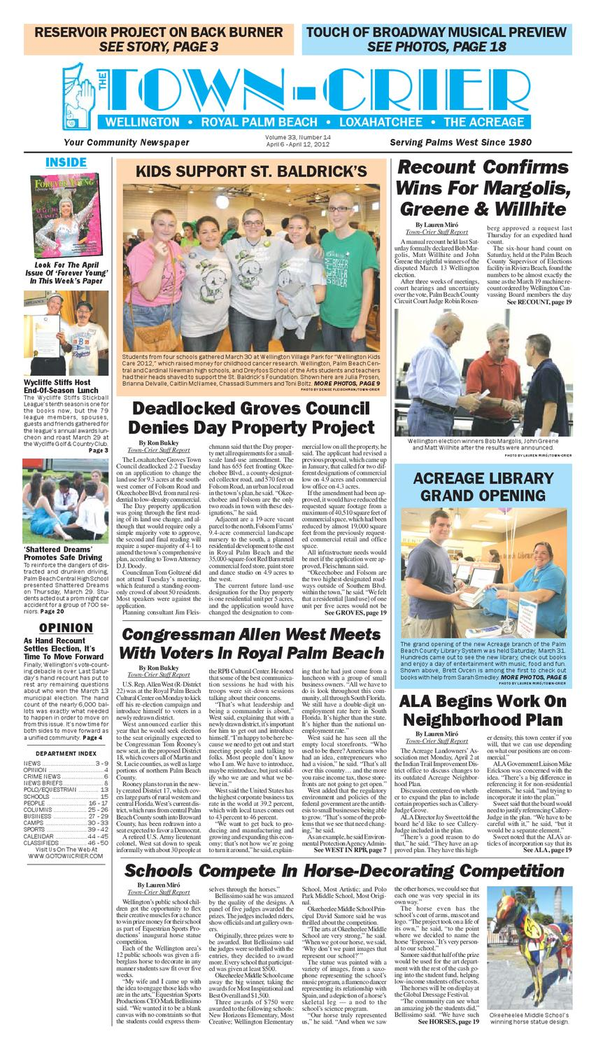 town crier newspaper april 6 2012 by