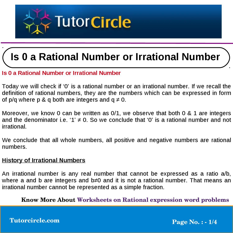Is 0 R Ti L Number Irr Ti L Number By Tut Circle Te M