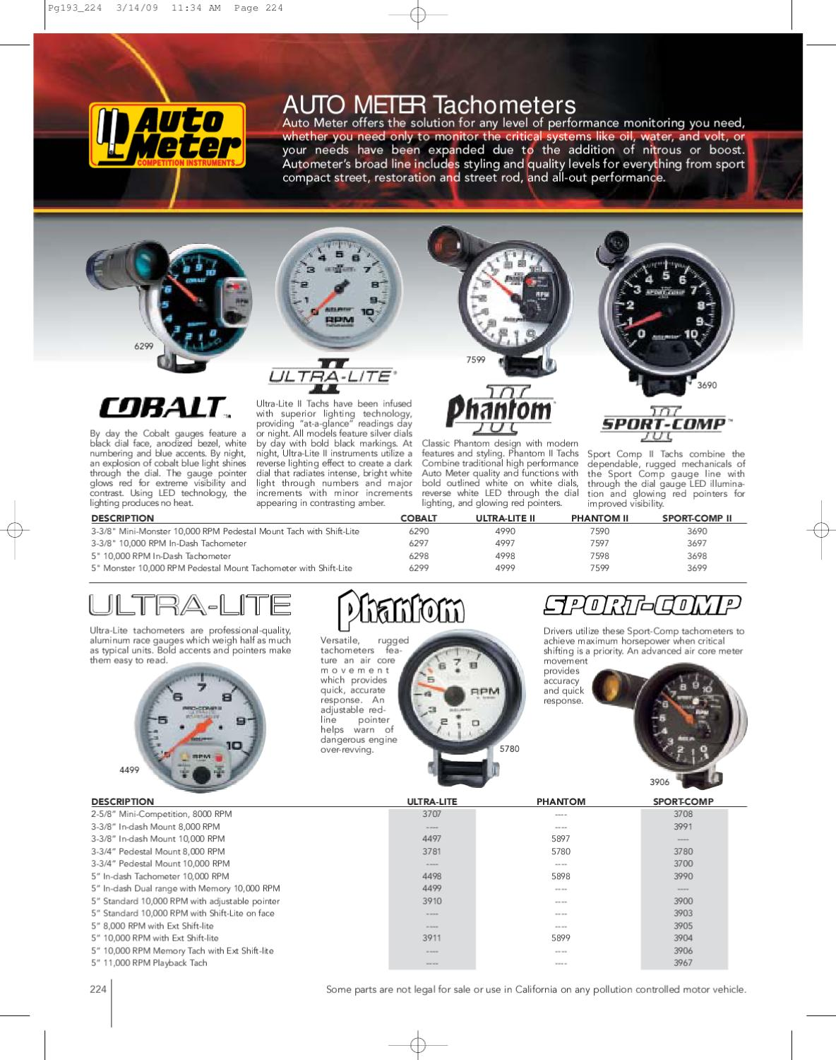 hight resolution of autometer by pbz ab issuu 3900 auto meter sport comp tach wiring diagram