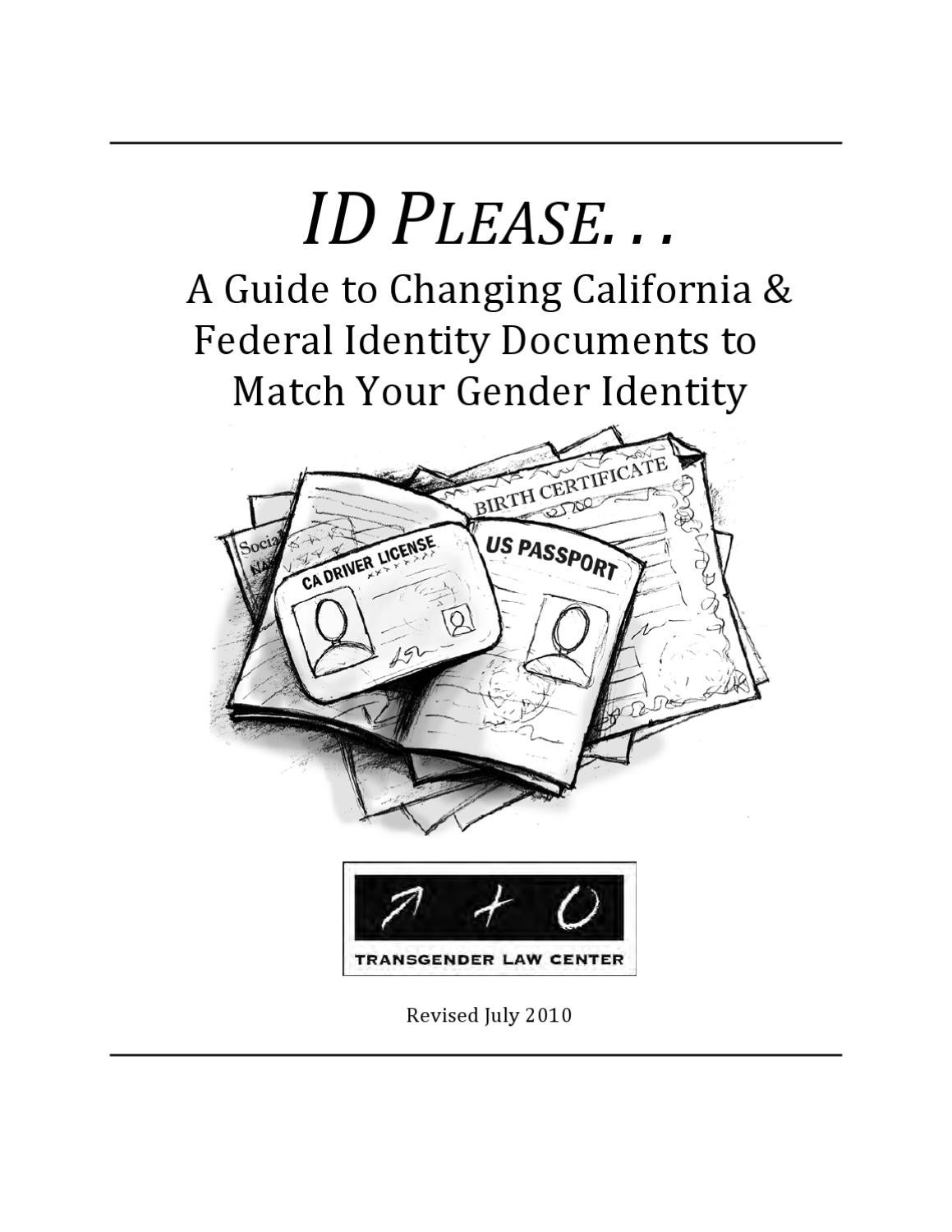 ID Please: A Guide to Changing California and Federal IDs