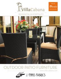 Villa Cabana Outdoor Furniture 2012 . Ennis Fabrics