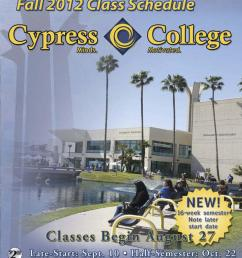 Cypress College 2012 Fall Schedule by Cypress College - issuu [ 1500 x 1205 Pixel ]