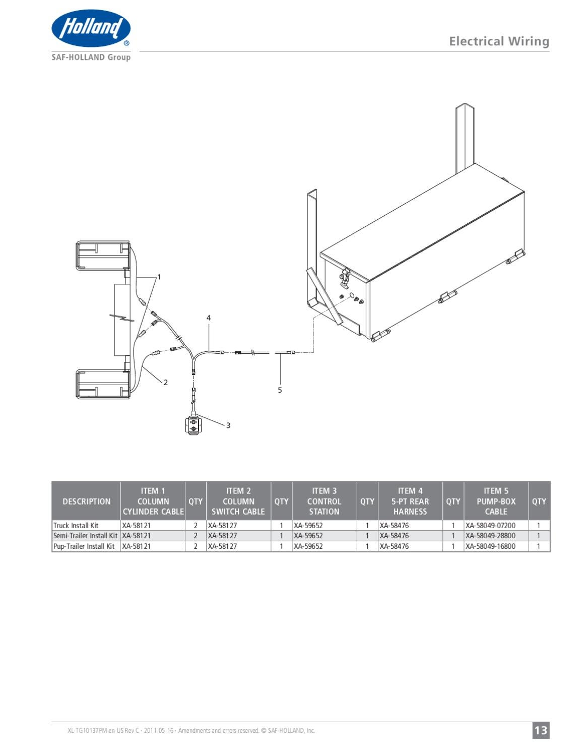 SAF Holland DH Series Liftgate by THE Liftgate Parts Co