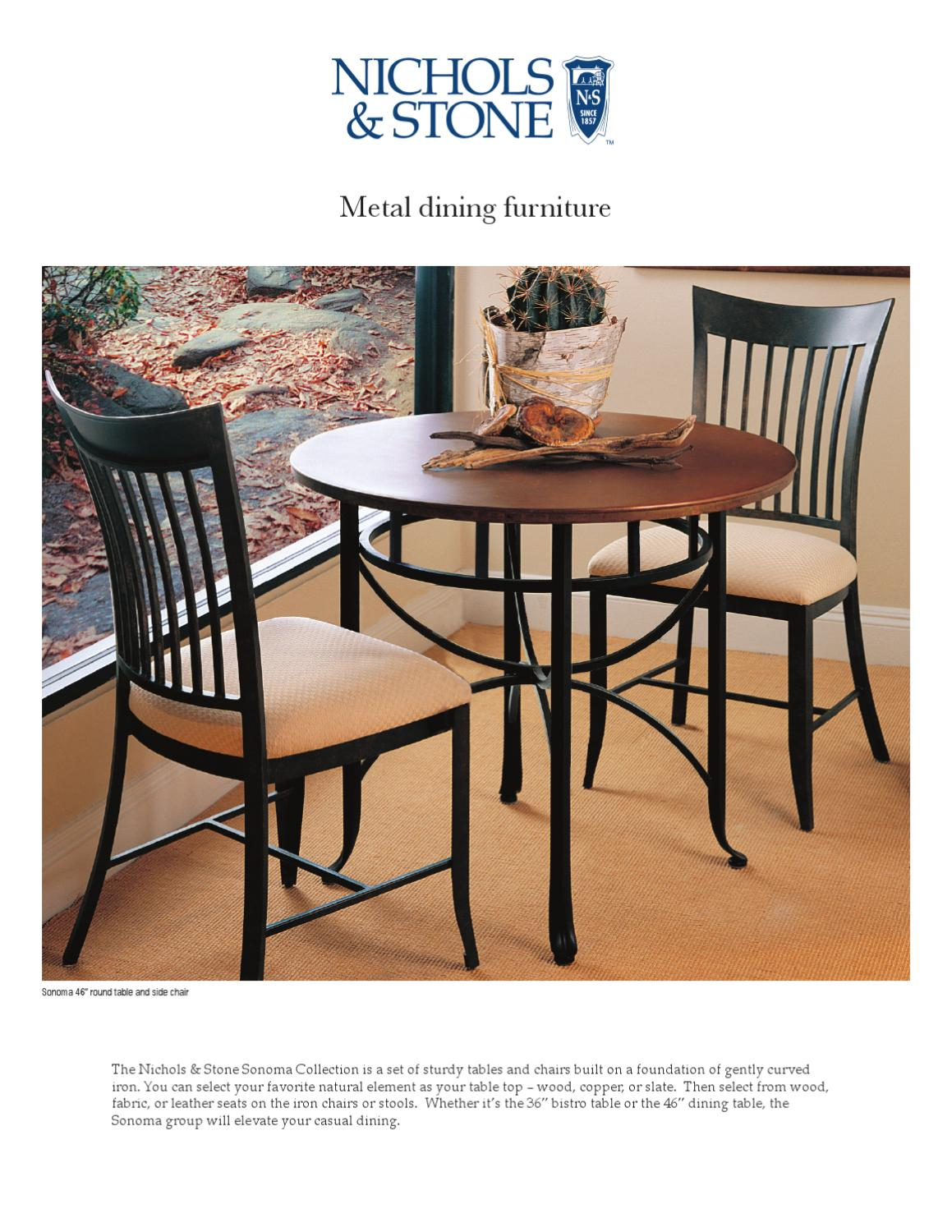 Copper Dining Chairs Metal Dining Furniture By Nichols Stone