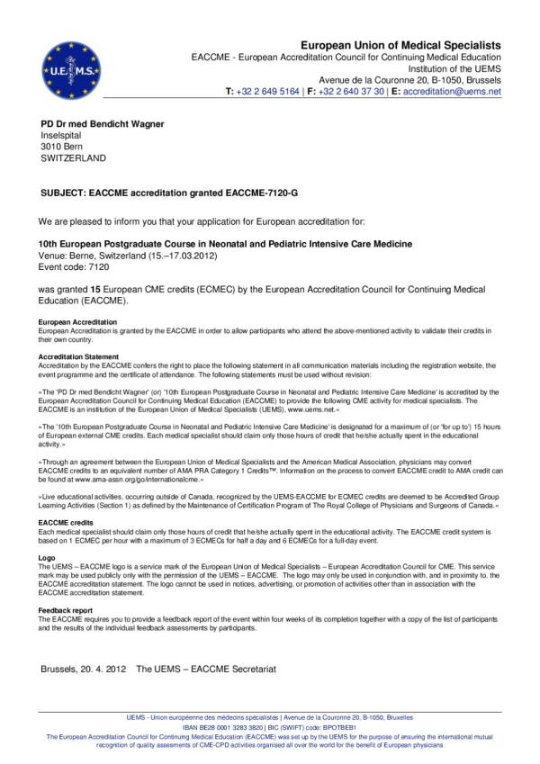 EACCME accreditation by Peter Salchli - issuu