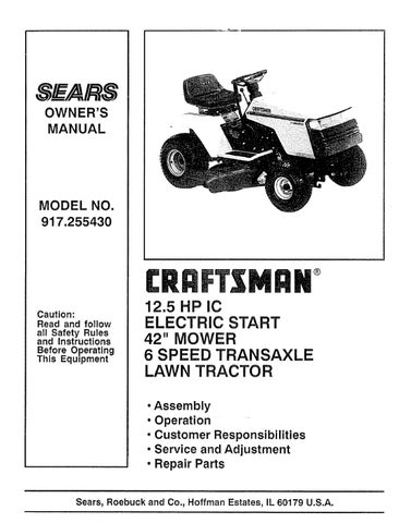 Craftsman Ii Lawn Mower Manual