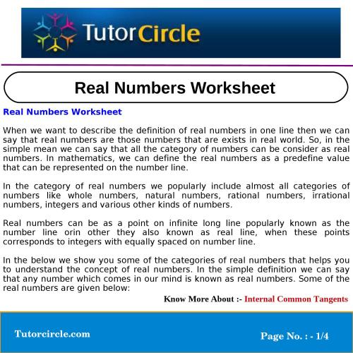 small resolution of Real Numbers Worksheet by circle team - issuu