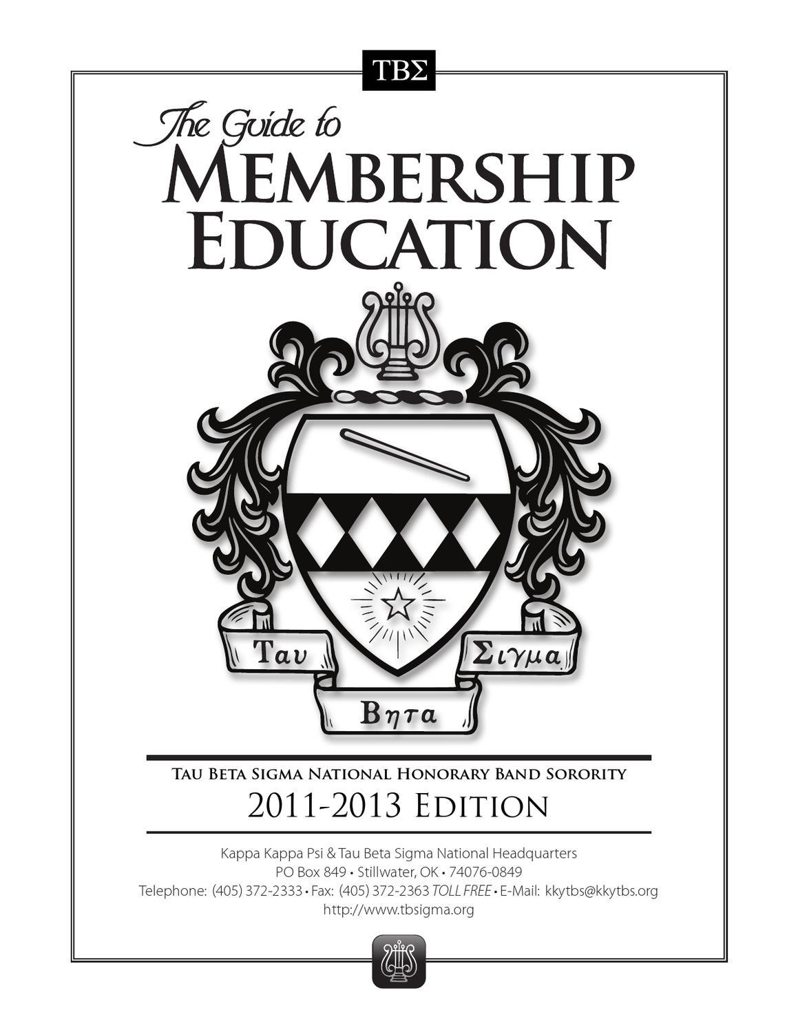 Tau Beta Sigma Guide to Membership by Kappa Kappa Psi