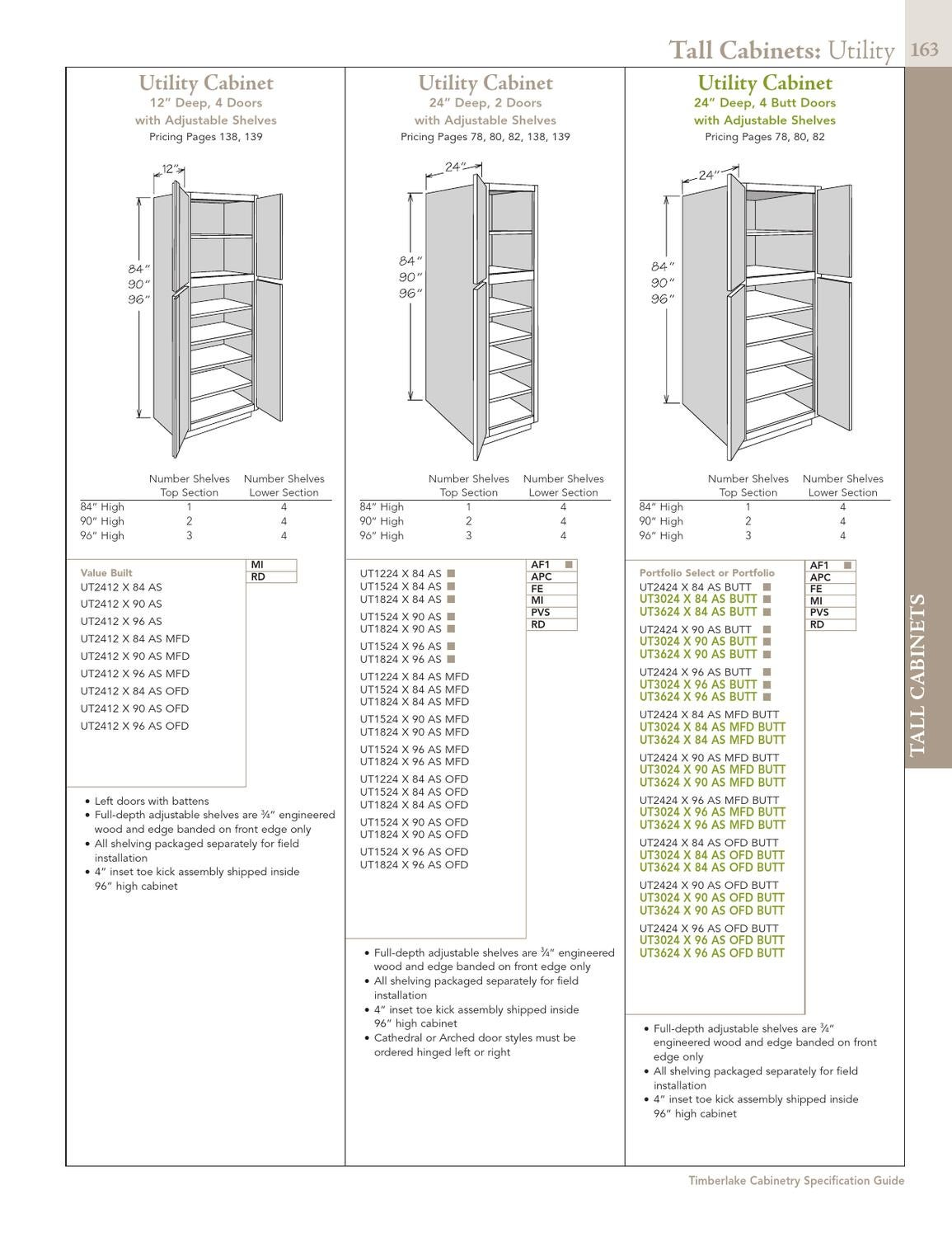 Toe Kick Depth : depth, Specification, Guide, Timberlake, Cabinetry, Issuu