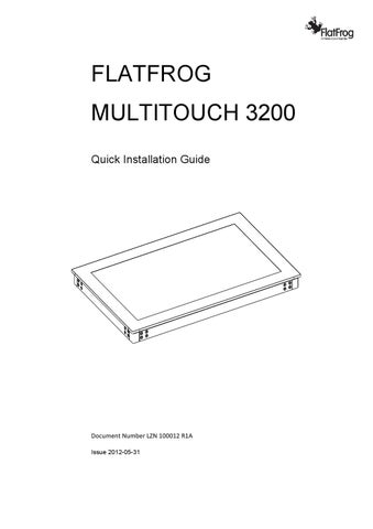 FlatFrog_Multitouch_3200_Quick_Installation_Guide_120713