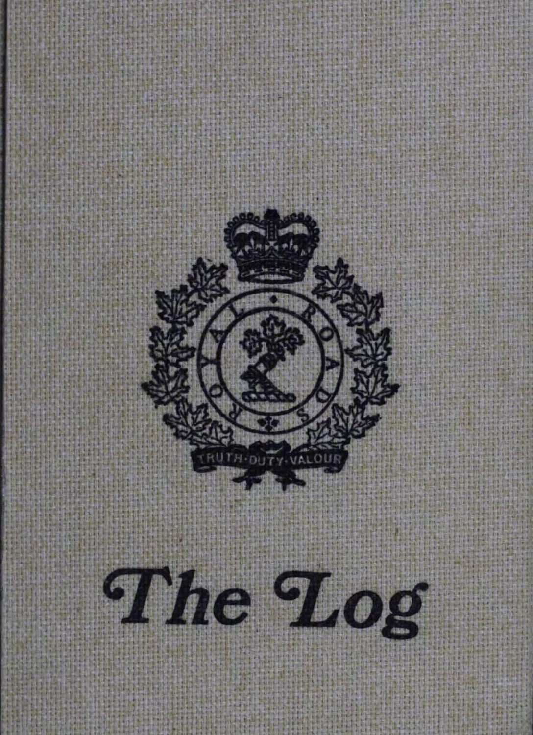 1983 Log Royal Roads Military College by Royal Roads