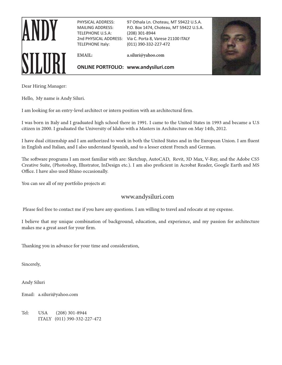 Fluent In English And Spanish Resume Resume By Andy Siluri Issuu