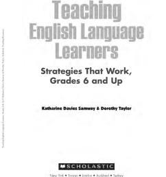 Teaching ESL Learners - Strategies - Gr 6 \u0026 up by ESOL Club - issuu [ 1500 x 1155 Pixel ]