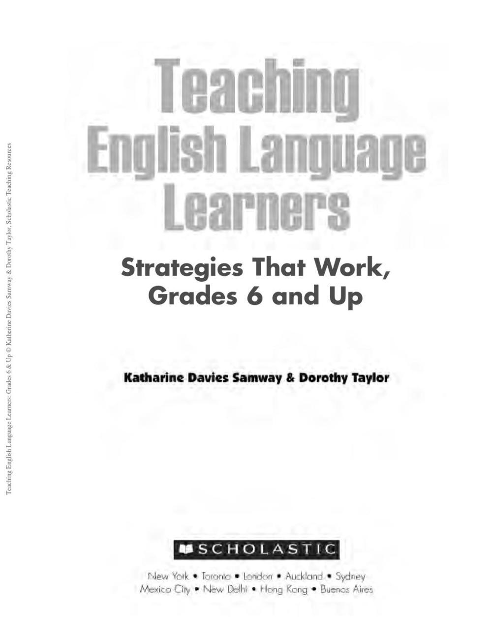 medium resolution of Teaching ESL Learners - Strategies - Gr 6 \u0026 up by ESOL Club - issuu