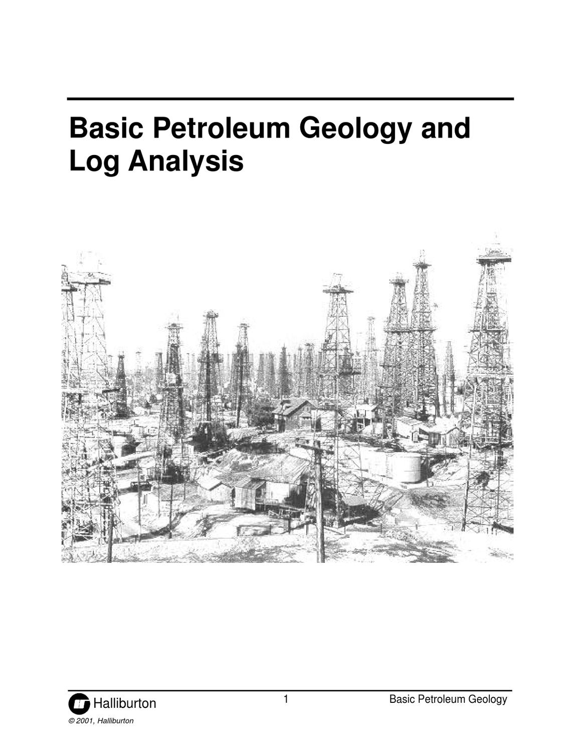 Basic Petroleum Geology And Log Analysis, Halliburton by