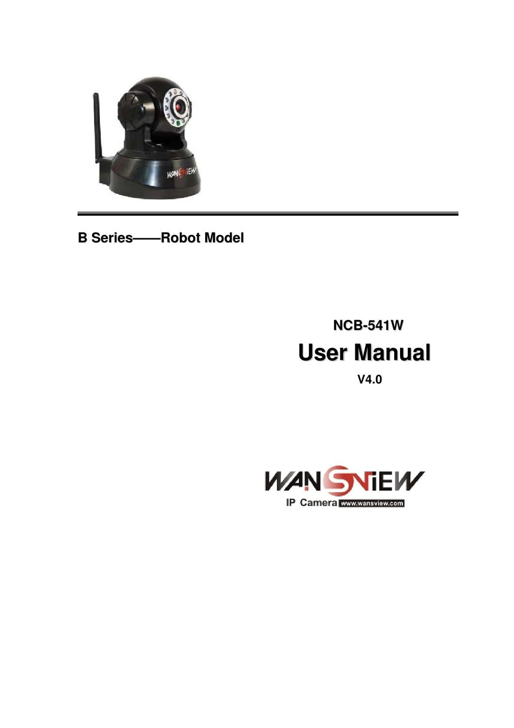 Wansview IPCamera User Manual(NCB-541W) by LAWRENCE CAMPOS