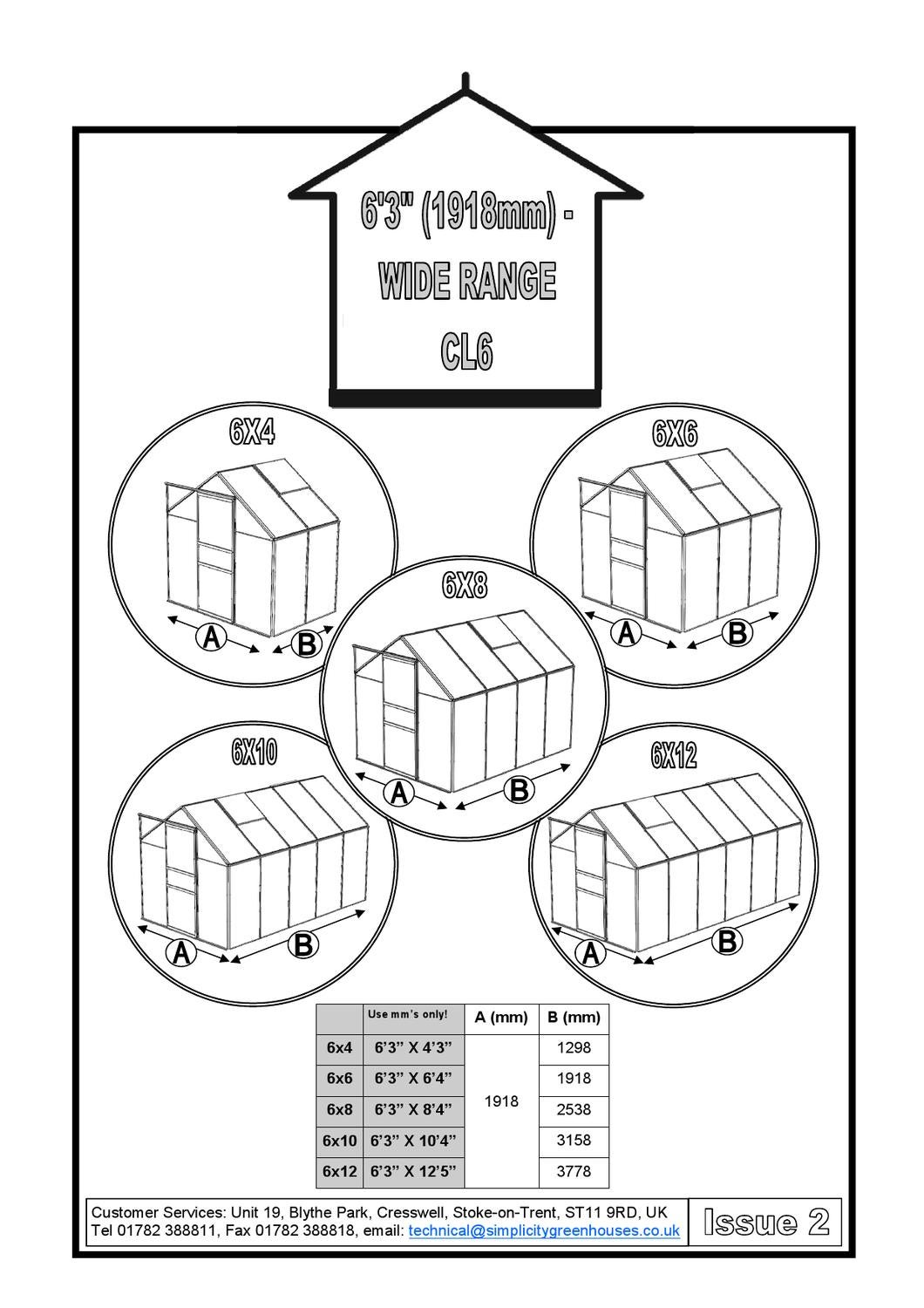 Simplicity Classic greenhouses instructions by The