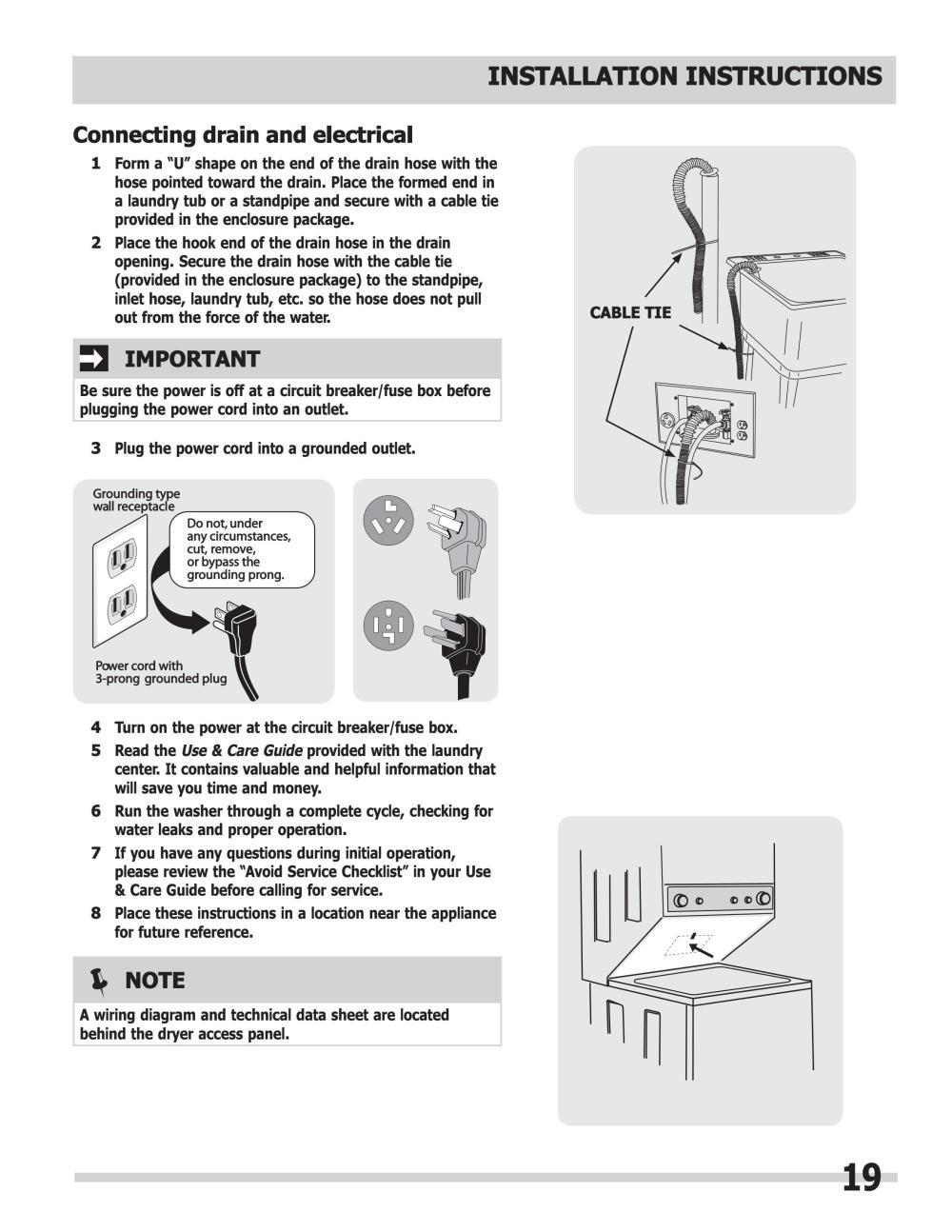 medium resolution of manual de instalacion centro lavado mod fflg2022mw frigidaire