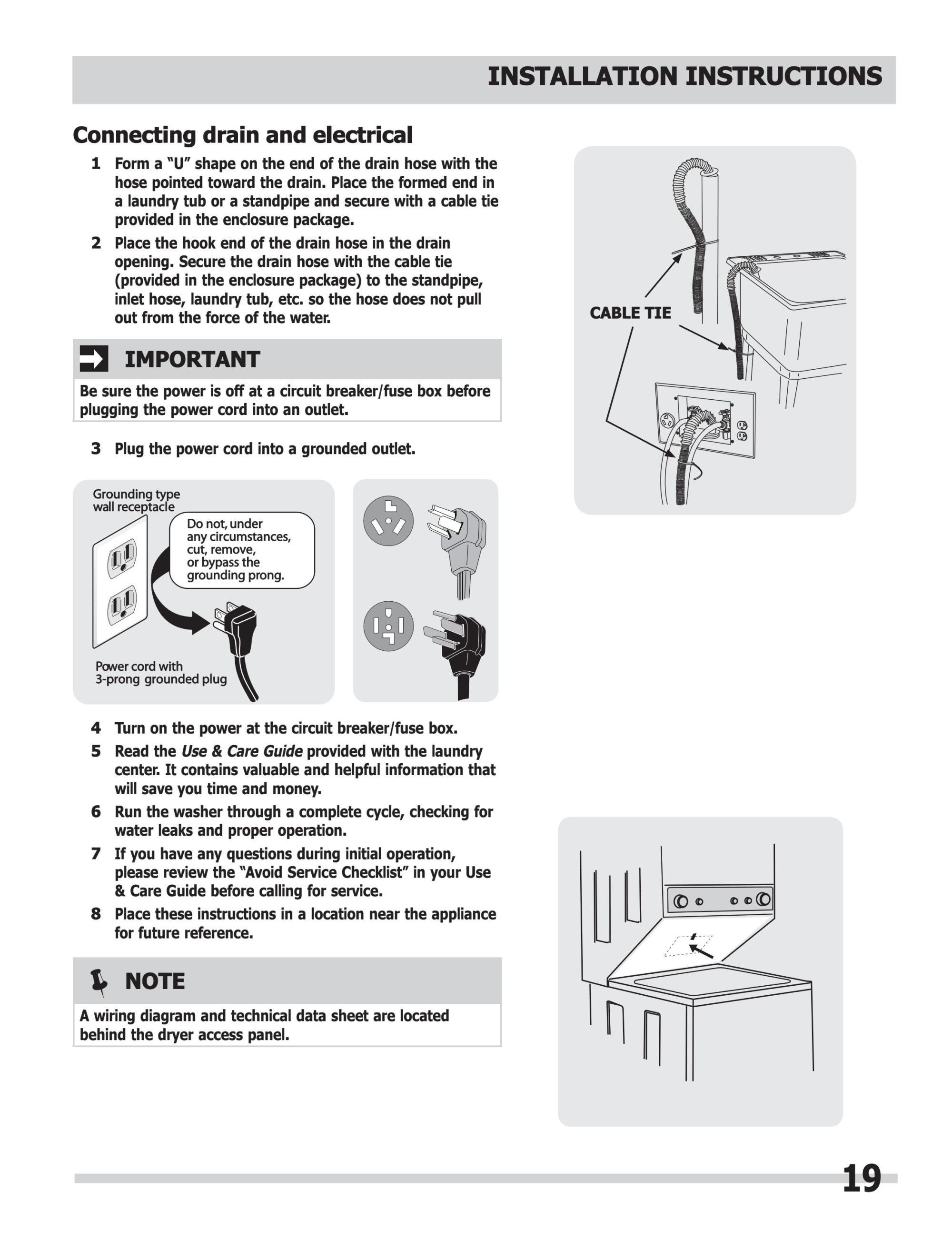 hight resolution of manual de instalacion centro lavado mod fflg2022mw frigidaire