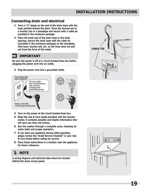small resolution of manual de instalacion centro lavado mod fflg2022mw frigidaire