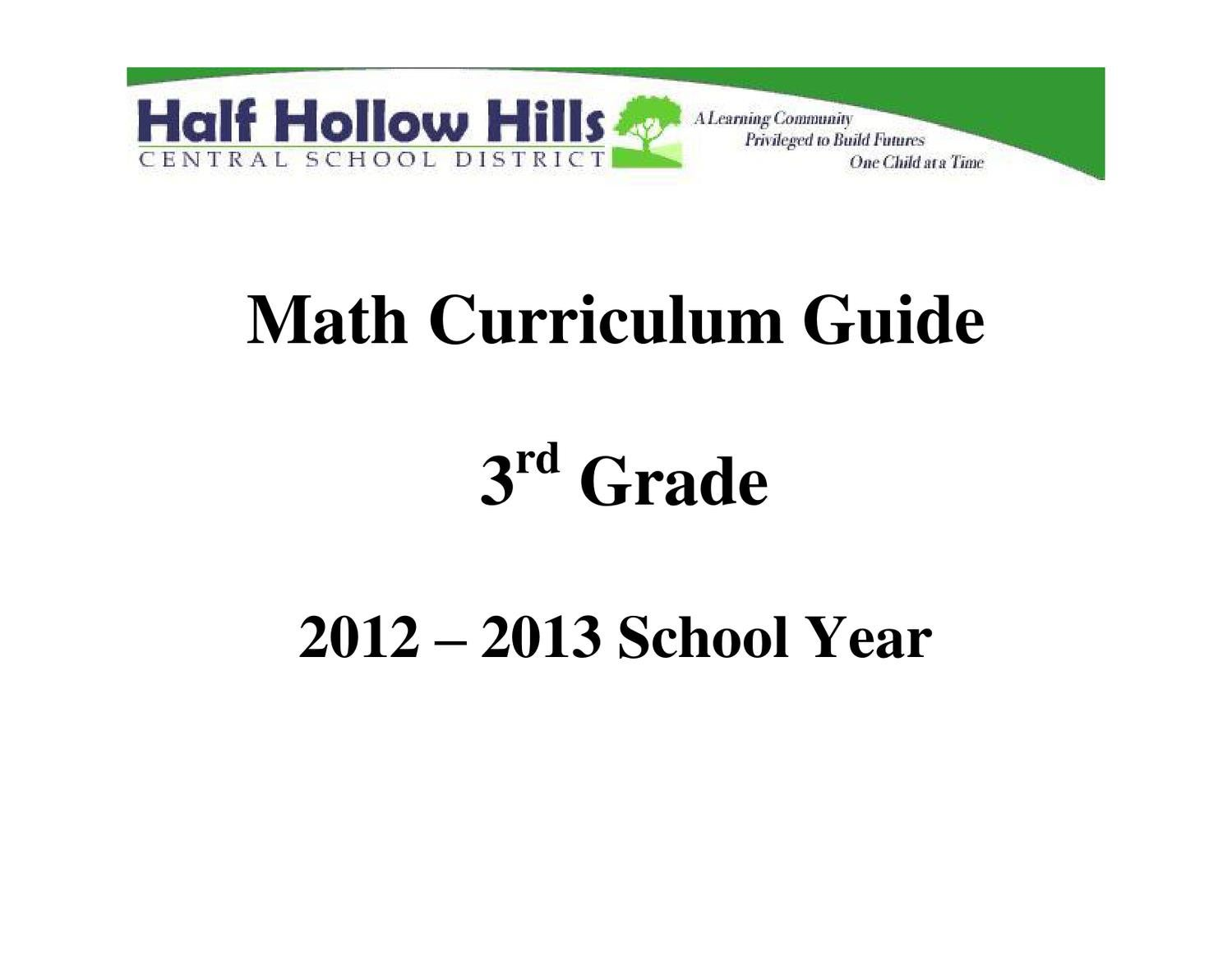 hight resolution of Math 3 Curriculum Guide 12-13 by Half Hollow Hills Schools - issuu