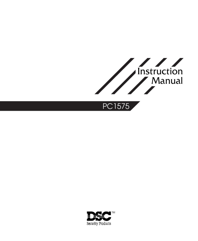 DSC pc1575 v10 ul um eng 29001851 r2 by Sertek Servicios