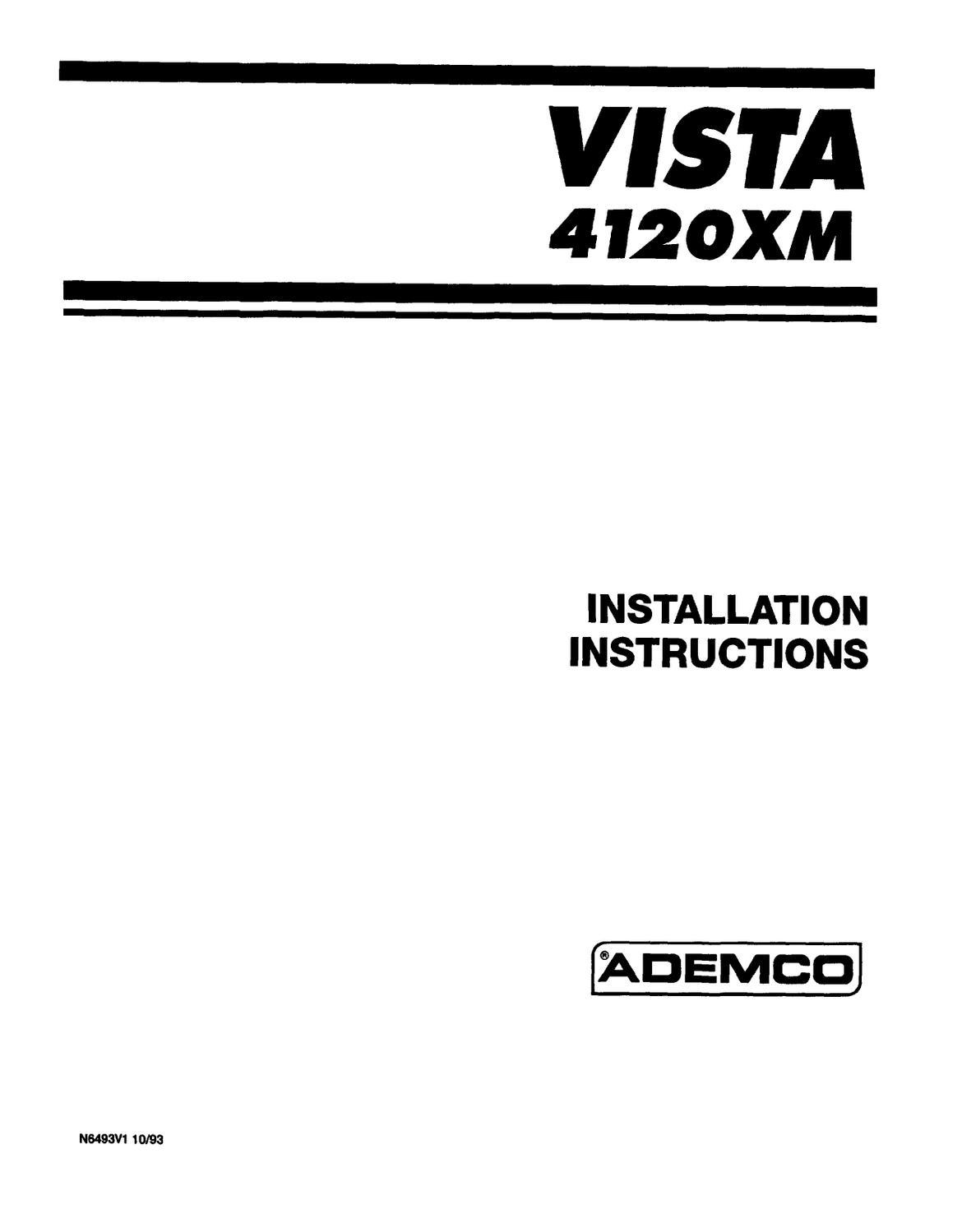 ADEMCO instalacion 4120XMII by Sertek Servicios
