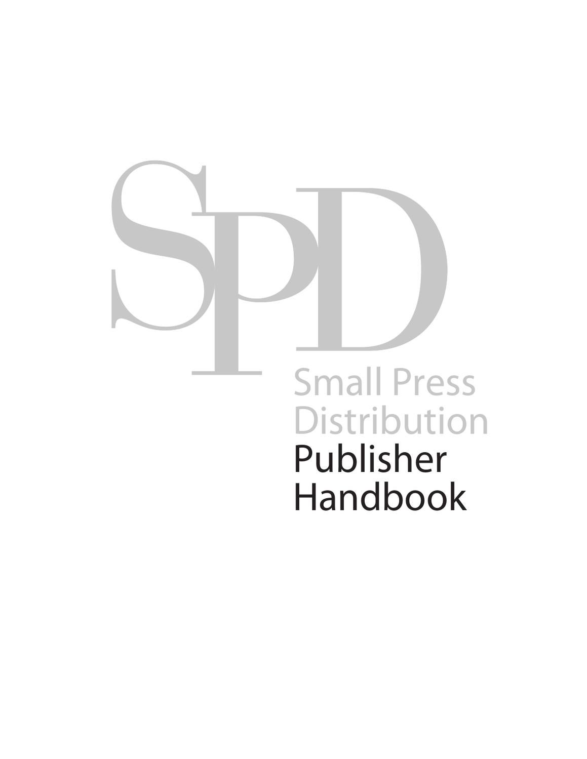 SPD Publisher Handbook Sep. 2012 by Small Press
