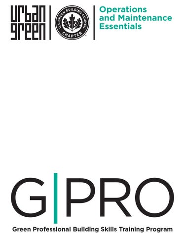 Sample Chapter: GPRO Operations & Maintenance by Urban