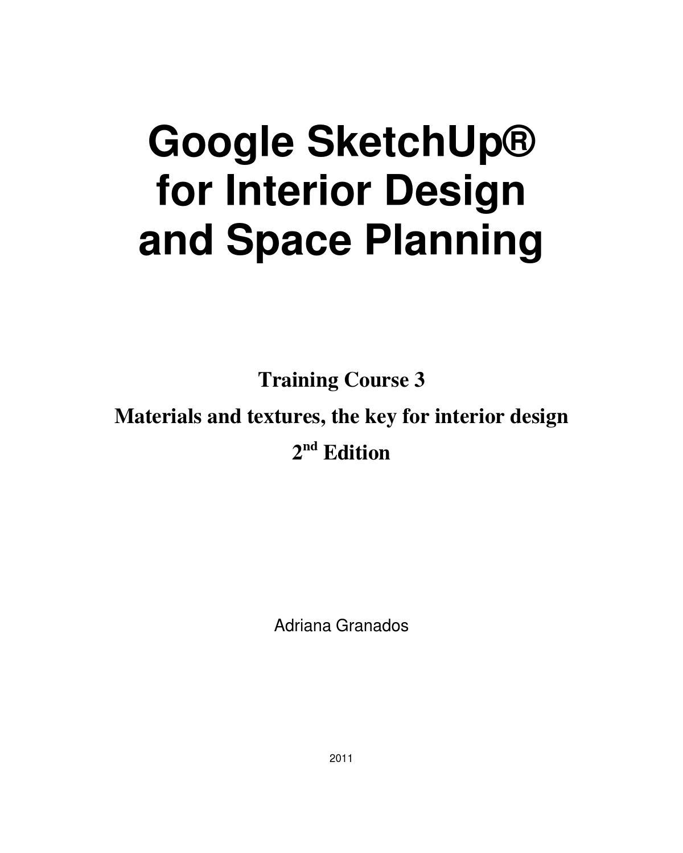 Google Sketchup for Interior Design & Space Planning