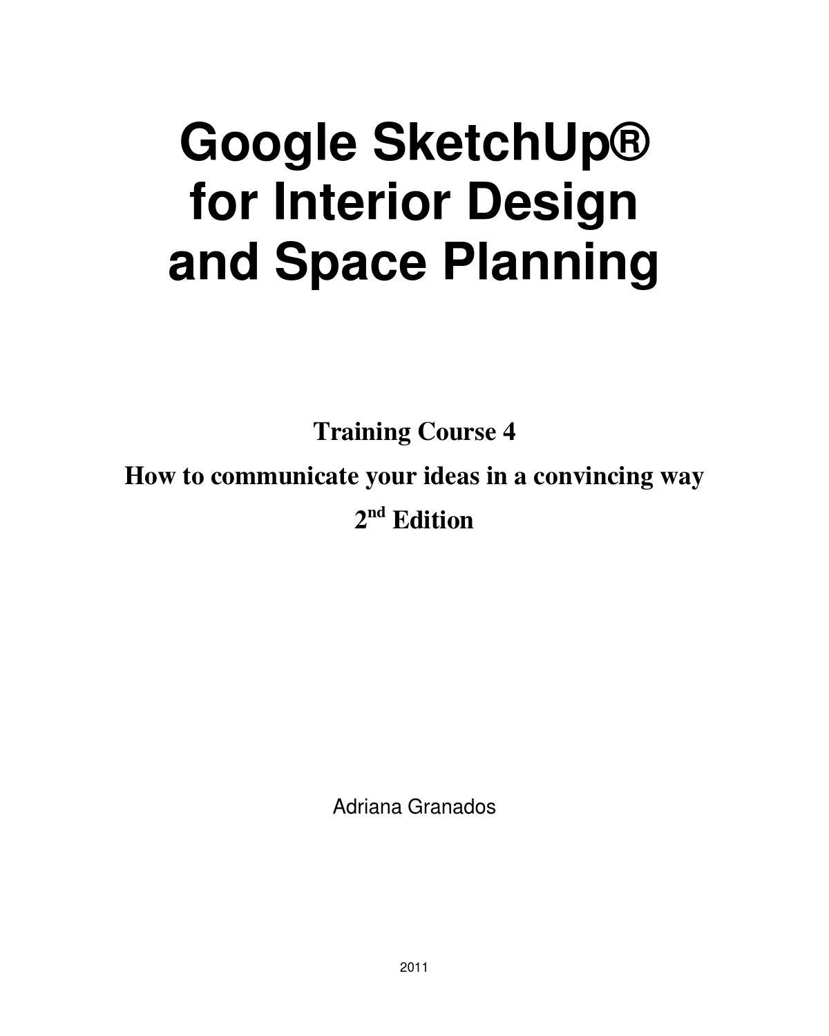 Google Sketchup for Interior Design & Space Planning