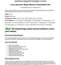 isuzu ascender online repair manual for 2003 2004 2005 2006 2007 and 2008 by repairsurge issuu [ 1108 x 1500 Pixel ]