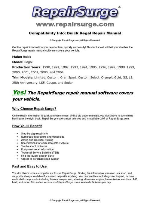 small resolution of buick regal online repair manual for 1990 1991 1992 1993 1994 1995 1996 1997 1998 1999 200 by repairsurge issuu