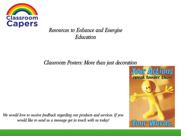 Educational Classroom Posters Capers