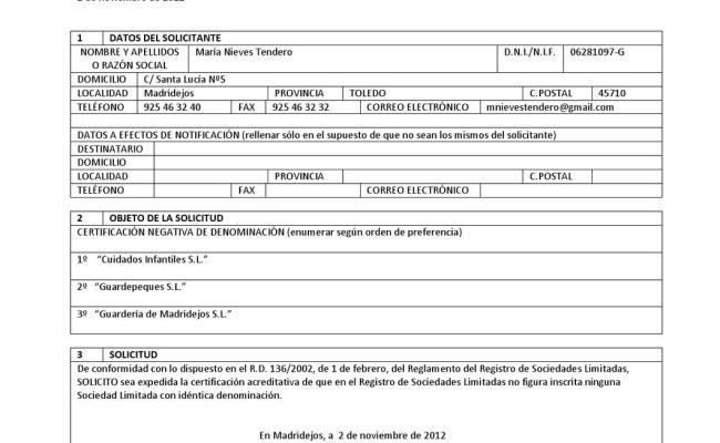 Certificación Negativa Del Nombre By María Nieves Issuu
