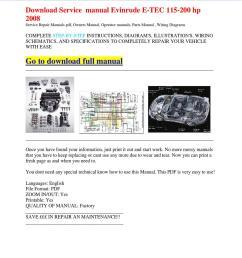 download service manual evinrude e tec 115 200 hp 2008 [ 1060 x 1500 Pixel ]