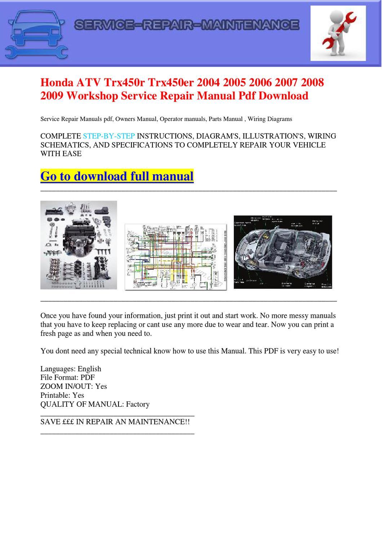 hight resolution of wire diagram 07 honda trx450r