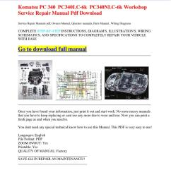 komatsu pc 340 pc340lc 6k pc340nlc 6k workshop service repair manual pdf download [ 1060 x 1500 Pixel ]