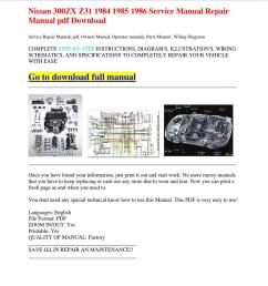 nissan 300zx z31 1984 1985 1986 service manual repair manual pdf download by dernis castan  [ 1060 x 1500 Pixel ]